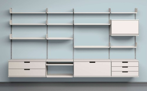 Medium Of Modular Wall Shelves