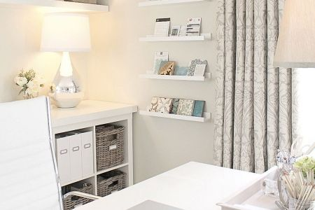 all white contemporary home office by nagwa seif interior design