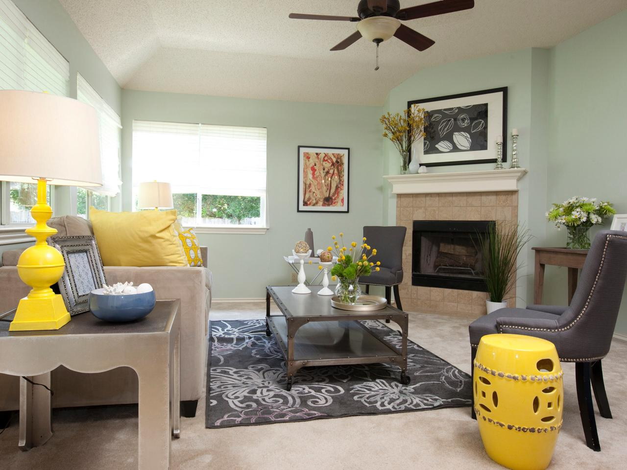 Pretentious Mint Walls Soften Feeling Contrast A Vibrantly Colored Room 2 Living Rooms Interior Living Rooms Interior Design interior Living Rooms Interior