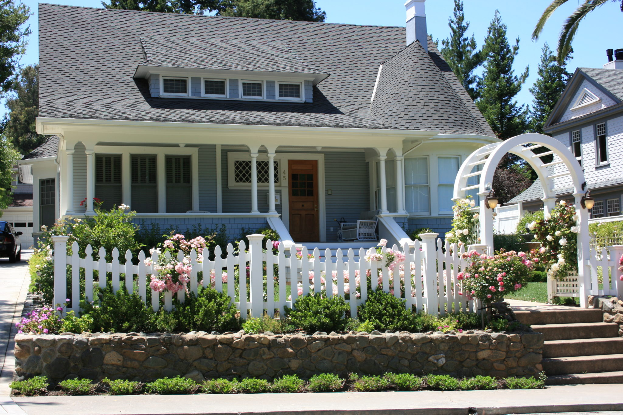 Noble A Picket Doll House Picket Fence Picket Fence House View Front Gallery Living American Dream curbed White Picket Fence House