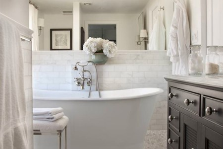 restoration hardware vanity sink transitional bathroom