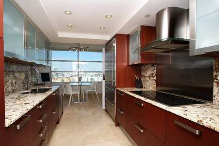 galley kitchen contemporary design
