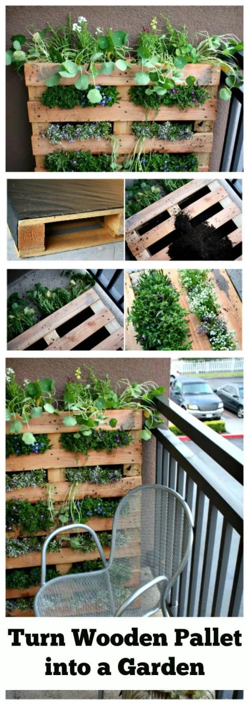Medium Of Horizontal Pallet Garden