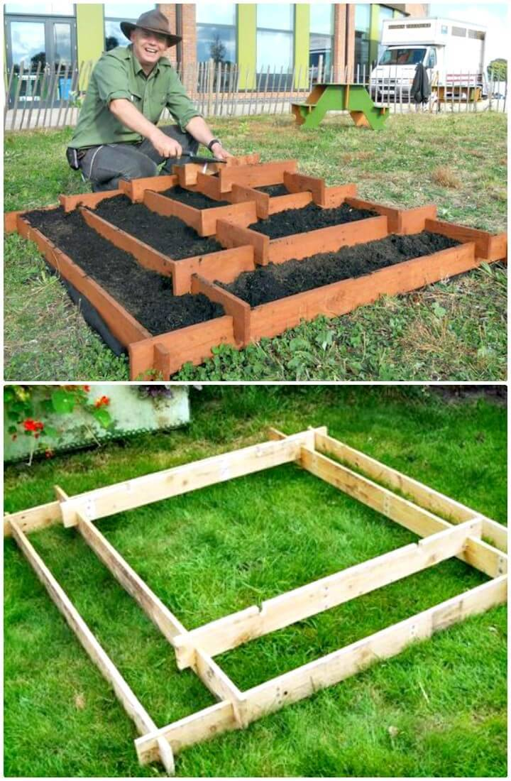 Cordial Build A Slot Toger Pyramid Garden Diy Pallet Garden Projects To Update Your Gardens Diy Crafts Herb Garden Pyramid Diy Layout Herb Garden Vertical Pyramid garden Pyramid Herb Garden