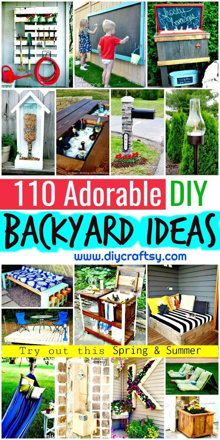 State Diy Backyard Ideas Diy Outdoor Projects Diy Patio Ideas Backyard Diy Diy Backyard Ideas To Try Out This Spring Summer Diy Crafts Backyard Projects Ideas outdoor Backyard Projects Ideas