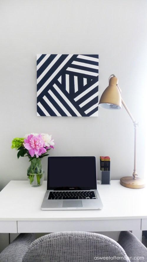 Excellent Striped Black Art Diy Diy Dorm Dcor Ideas Dorm Wall Decor Diy Dorm Wall Decor Ideas
