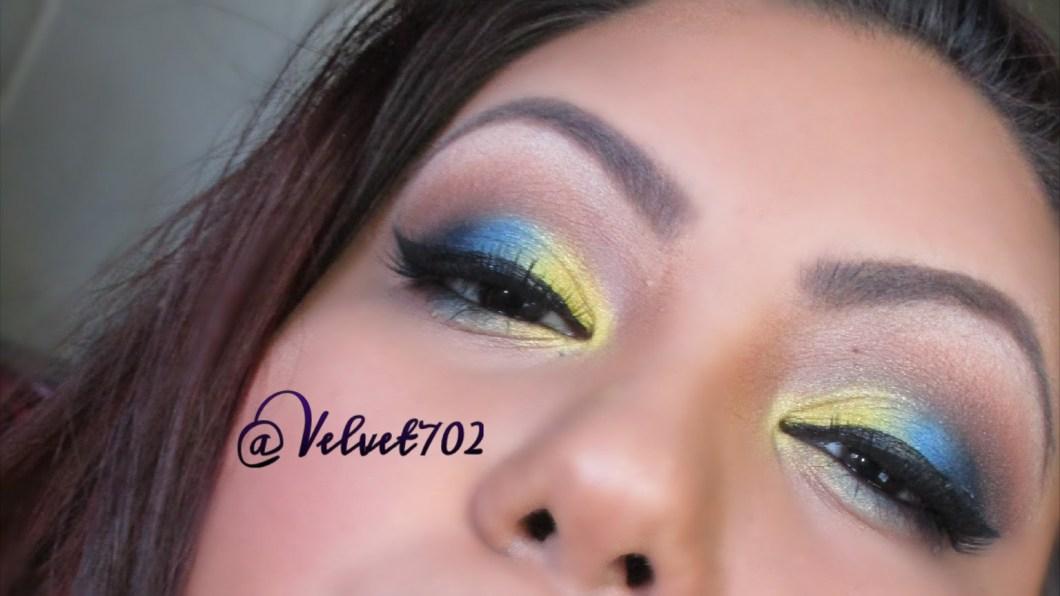 Bright Blue Eye Makeup Tutorial Cosmeticstutor