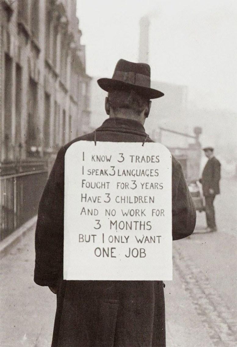 Поиск работы в Америке, 1930-е гг. история, факты, фото