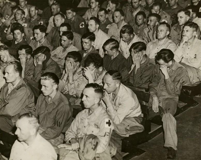 Реакция немецких солдат на кадры из концлагерей, 1945 год история, факты, фото