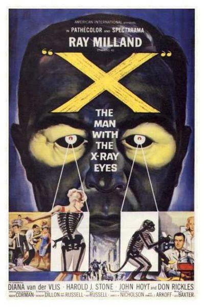Poster do filme O Homem dos Olhos de Raio-X
