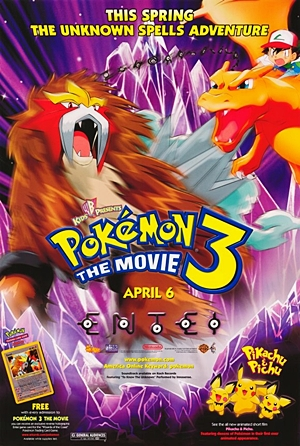 Poster do filme Pokémon 3: O Feitiço dos Unown