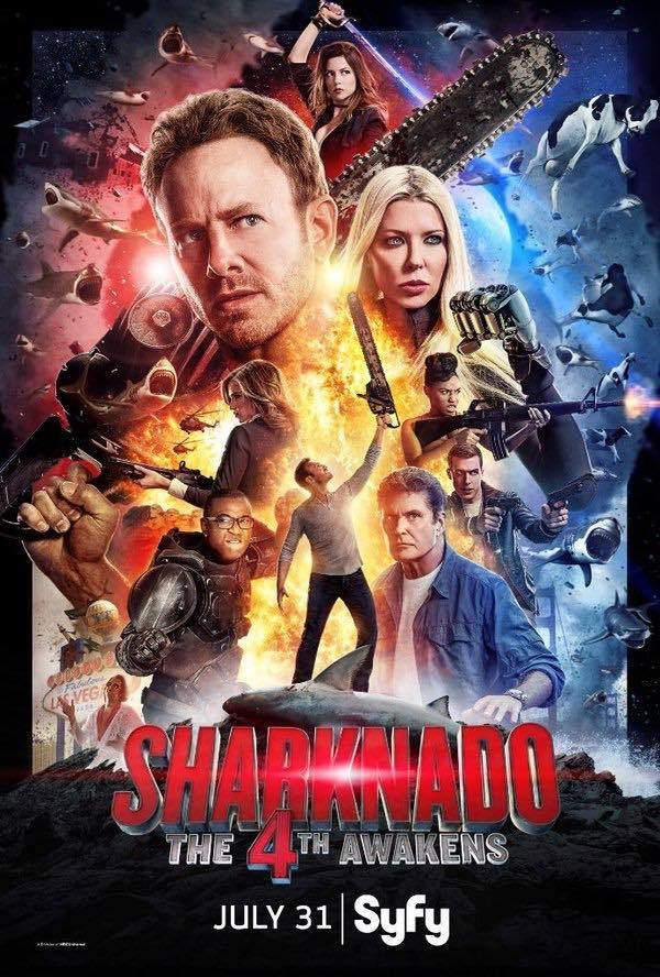 Poster do filme Sharknado: Corra Para o 4º
