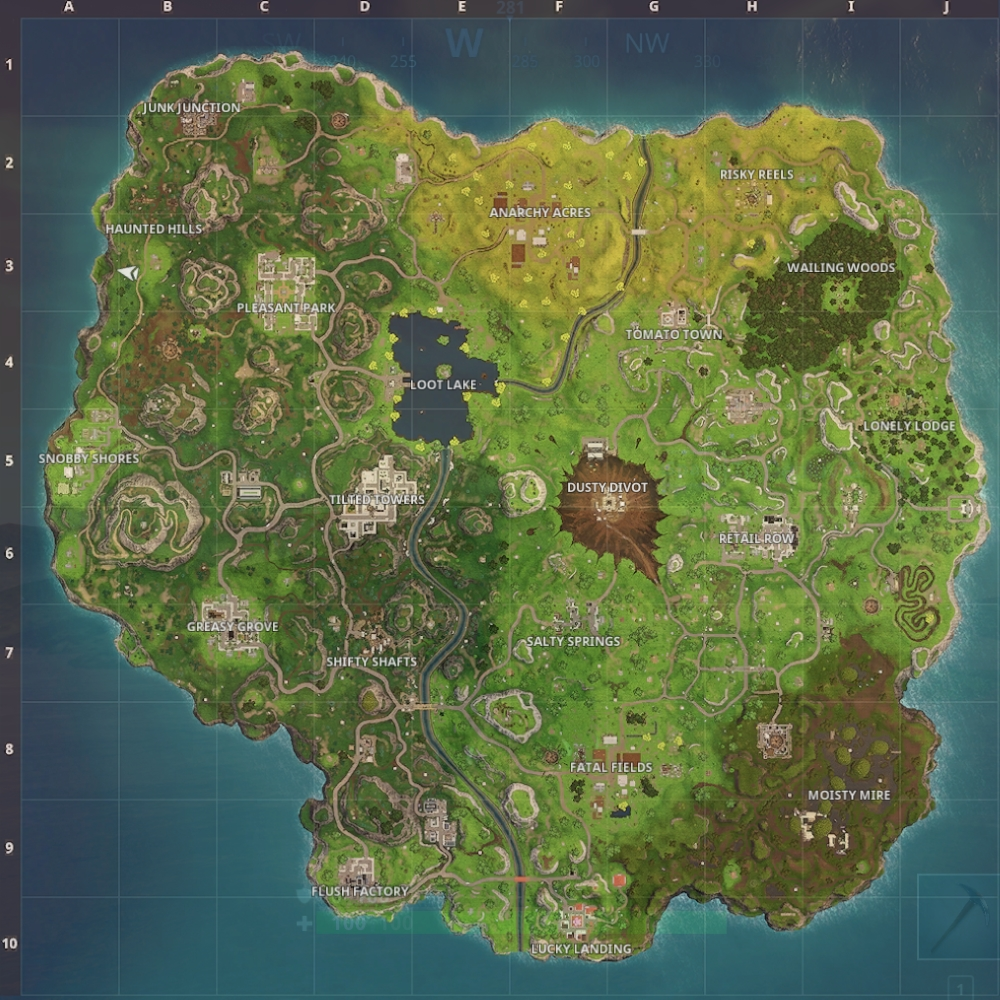 Fortnite  Battle Royale   Map update guide  Dusty Divot and Risky     Article Continues Below