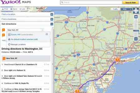 bing maps transit directions yahoo driving directions
