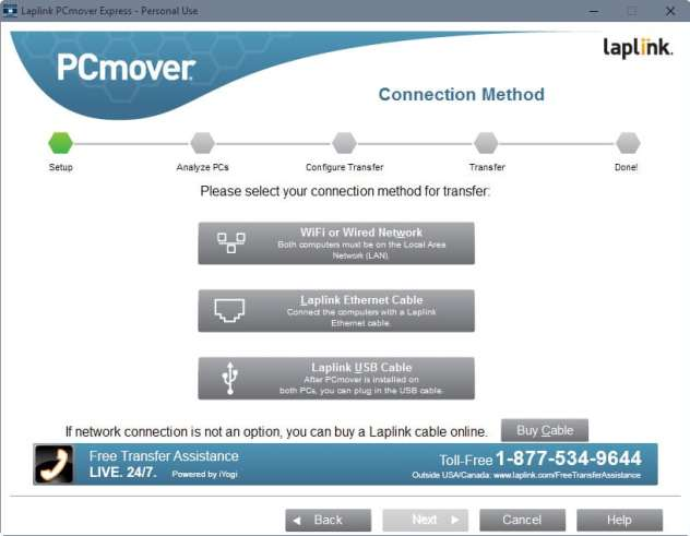 pcmover wired wifi network