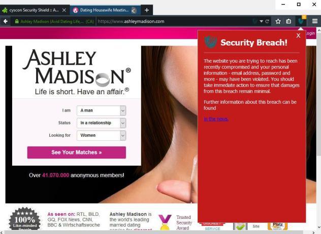 security breach warning