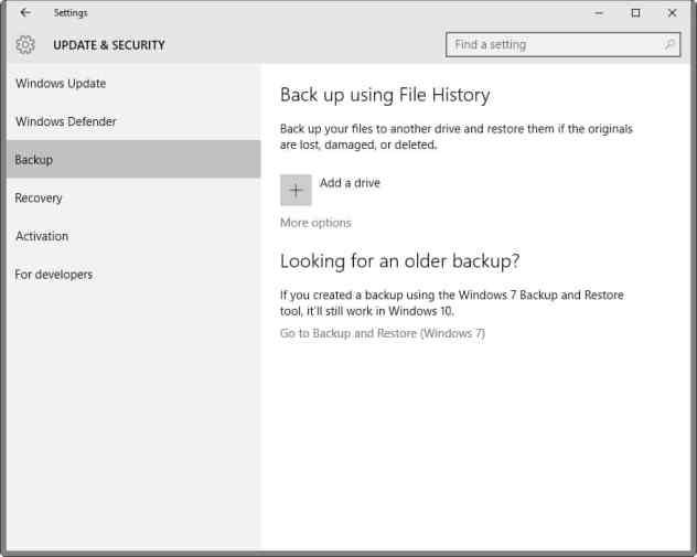 file history windows 10