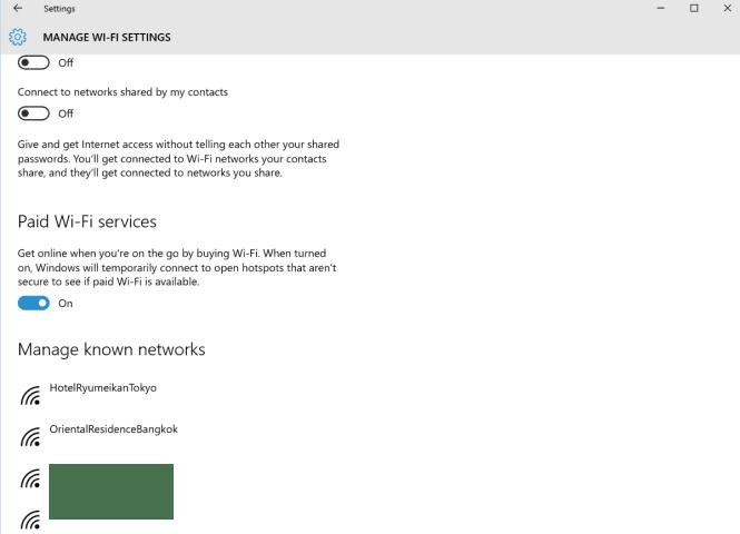 Cara menghapus Jaringan Wireless lama di Windows 10