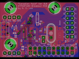"STM32F103 ""Canadian Maid"" Breakout Board"