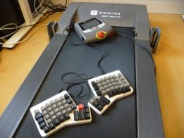 keyboard controlled treadmilldesk