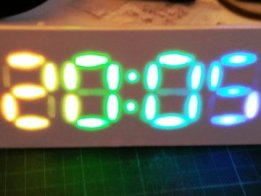 RGB 7segment desk clock