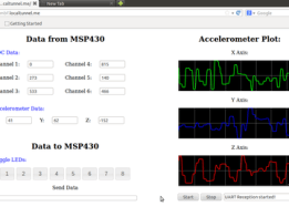 Web UI for MSP430 launchpad