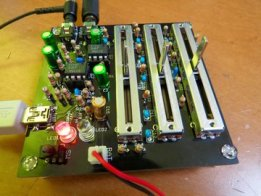 Simple stereo 3-band audio equaliser