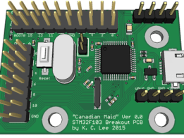"""STM32F103 """"Canadian Maid"""" Breakout Board"""