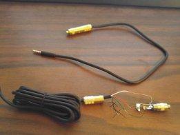 TRS jack to TRRS plug hack adapter