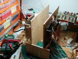 4 bit computer built from discrete transistors