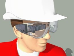 Safety Glasses With B.T. Display for Multimeter
