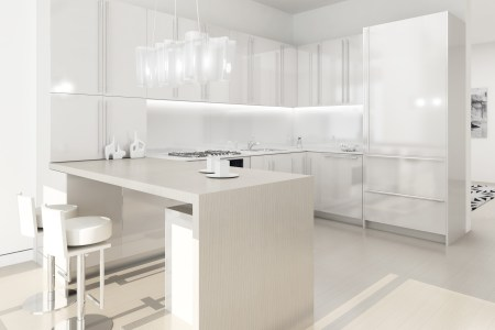 glamourous modern kitchen white lacquer everything