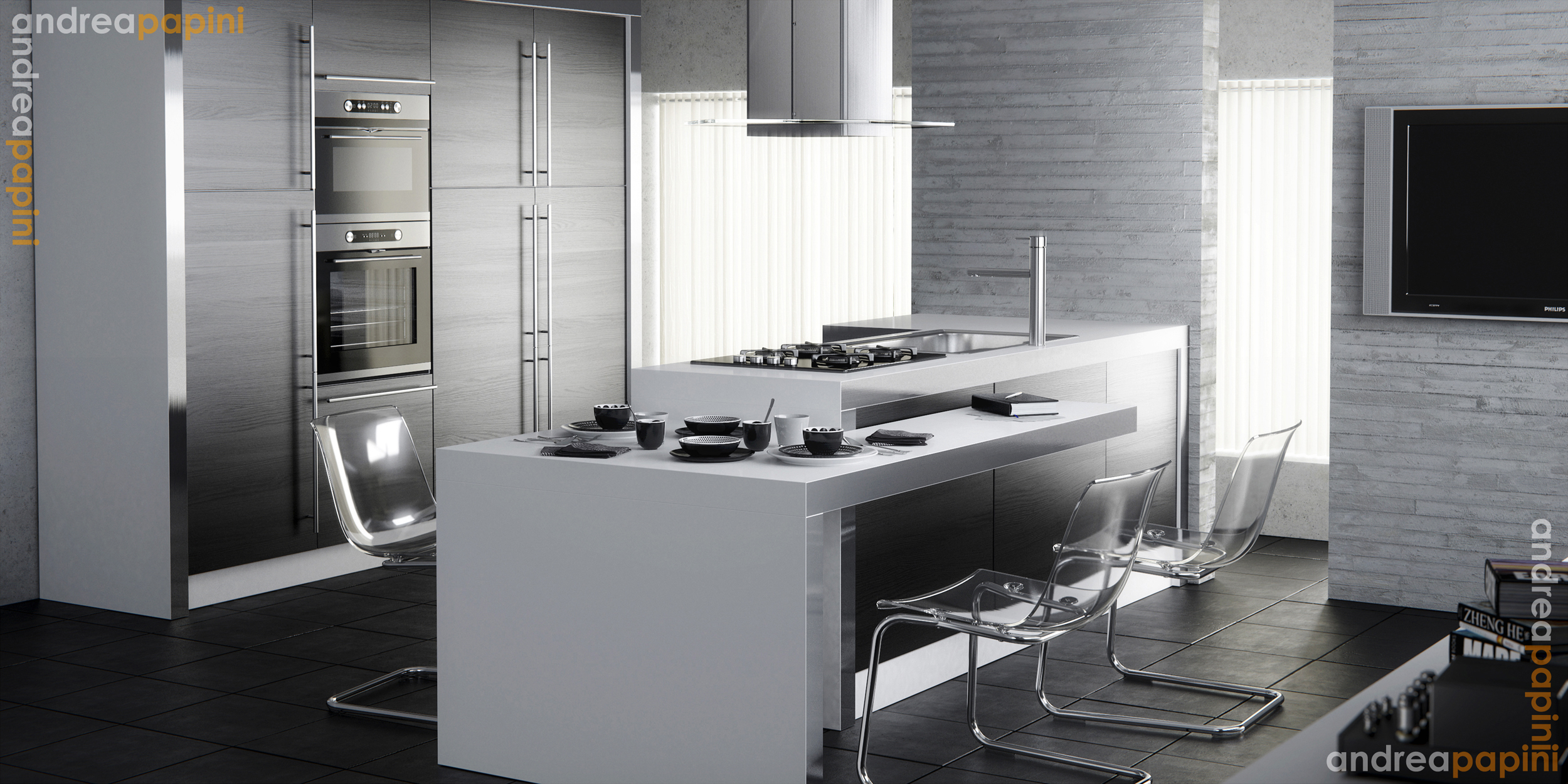 white kitchens white kitchen designs Designed by Andrea Papini