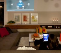 All functions in the house can be controlled by an iPhone or an iPad from anyplace on earth with an internet connection.