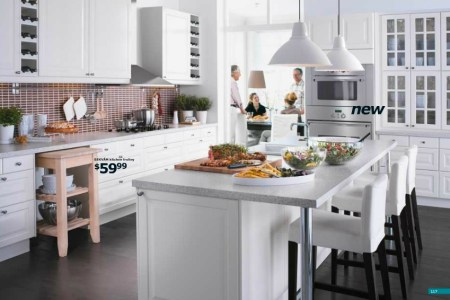 ikea large white kitchen