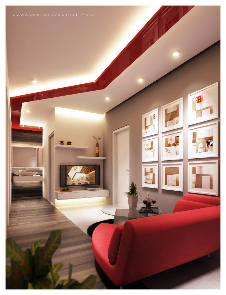 Fullsize Of Red Living Room
