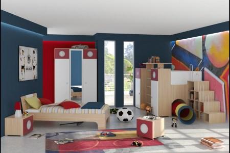 a spacious kids room