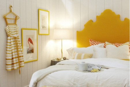 46 yellow headboard bedroom | interior design ideas.