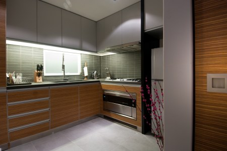 contemprary wood kitchen