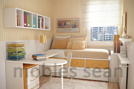 orange white small kids room