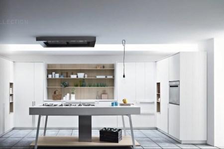 white oak modern kitchen island