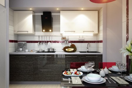 2 red white black modern kitchen dining decor style