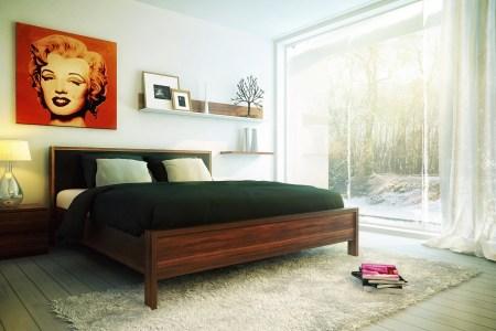 understated bedroom decor pop art | interior design ideas.