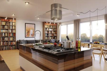 white brown kitchen scheme