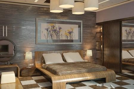 brown cream modern bedroom