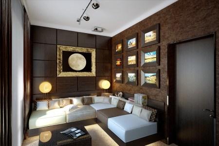 brown snug lounge decor