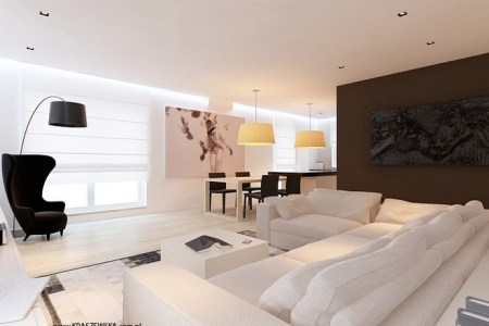 brown white lounge decor