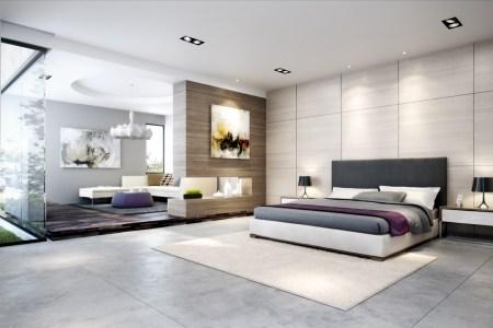 contemporary bedroom scheme