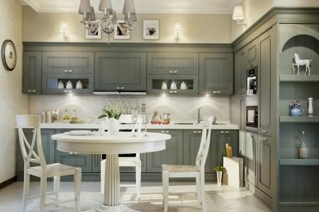 grey traditional kitchen