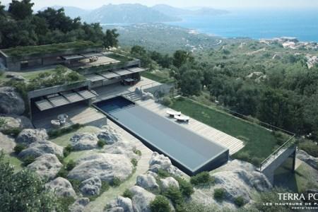 ocean view villa with pool